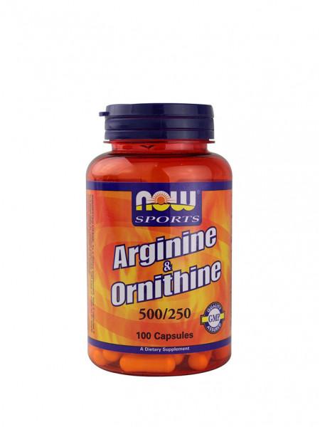 Now Arginine & Ornitine 500/250 мг 100 капс