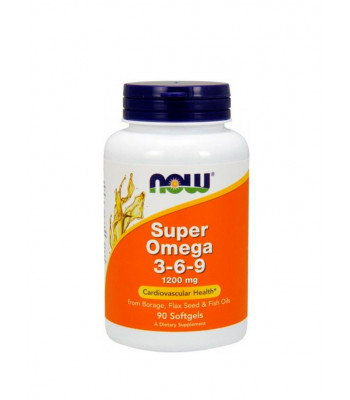 NOW Super Omega 3-6-9 90 капсул