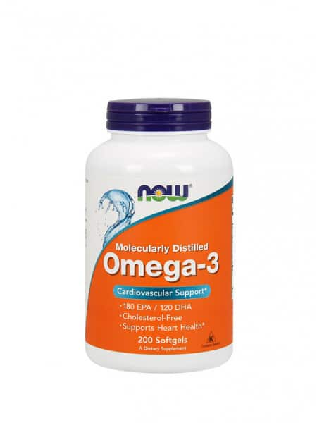 NOW Omega-3 1000 мг 200 капсул