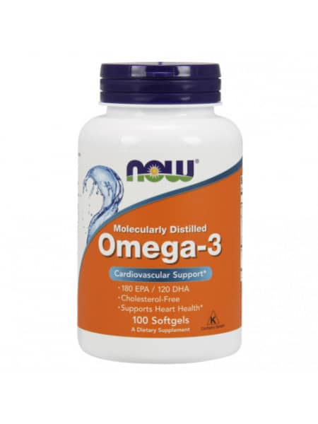 NOW Omega-3 1000 мг 100 капсул