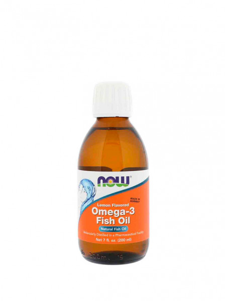 NOW Omega-3 Fish Oil 200 мл лимон