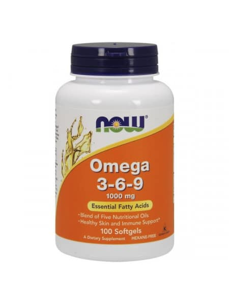 NOW Omega 3-6-9 1000 mg 100 капсул