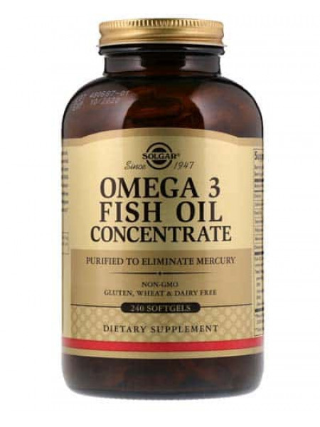 Solgar Omega-3 Fish oil Concentrate 240 капс