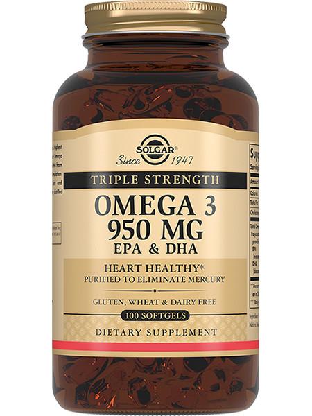 Solgar Omega 3 950 мг Тройная сила 100 капс
