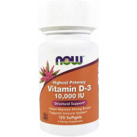 NOW Vitamine D3 10000me 120 капс