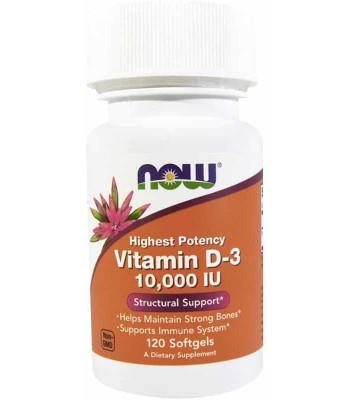 NOW Vitamine D3 10000me 120 капс