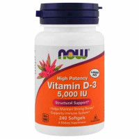 NOW Vitamin D3 5000 me 240 капсул