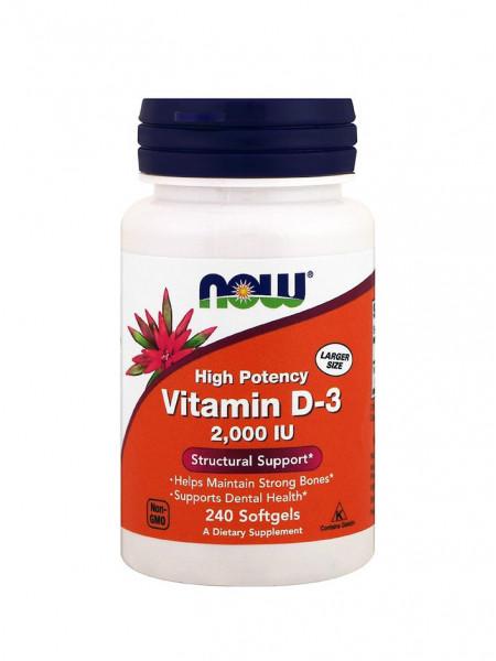 NOW Vitamin D3 2000 ме Нейтральный 240 капс