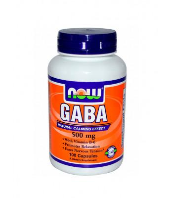 NOW GABA c витамином B6 500 мг 100 капсул
