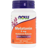 NOW Melatonin 5 mg 120 таб
