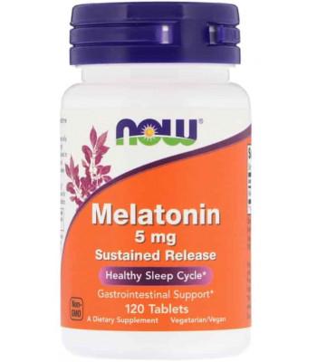 NOW Melatonin 5 mg 120 таб